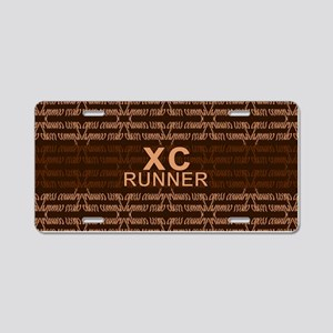 XC Runner brown Aluminum License Plate