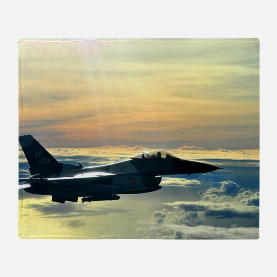 Funny Fighter jet Throw Blanket