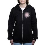 Pink Starburst Yin Yang.png Women's Zip Hoodie