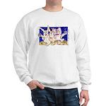 Cute Cartoon Rabbit Moon Sweatshirt