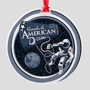 American Dream Round Ornament