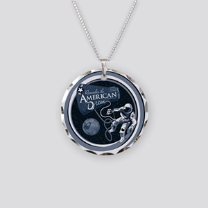American Dream Necklace Circle Charm