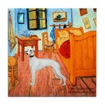 Room with a Whippet Tile Coaster