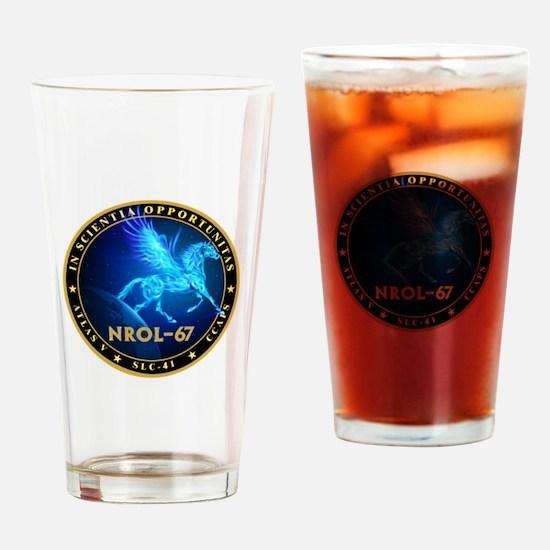 NROL-67 Program Team Drinking Glass