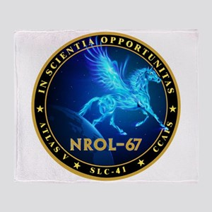 NROL-67 Program Team Throw Blanket