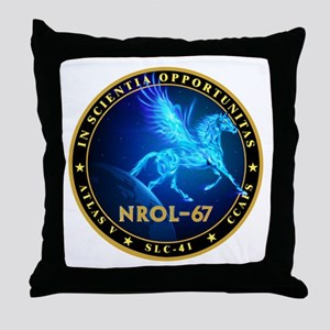 NROL-67 Program Team Throw Pillow