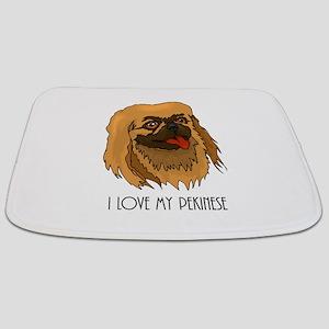 I Love my Pekenese Bathmat