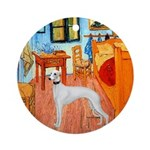 Room with a Whippet Ornament (Round)