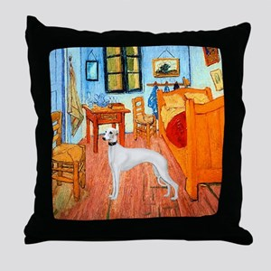Room with a Whippet Throw Pillow