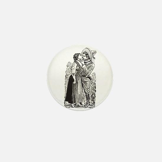 Last Kiss - Posada Woodcut Mini Button