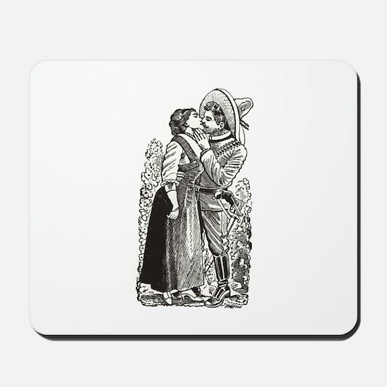 Last Kiss - Posada Woodcut Mousepad