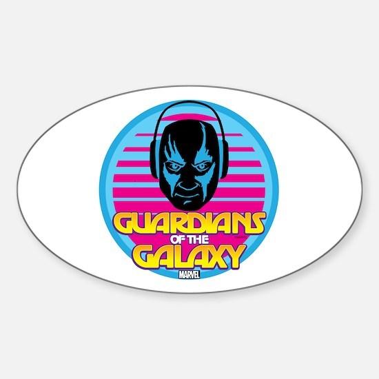 80s Drax Sticker (Oval)