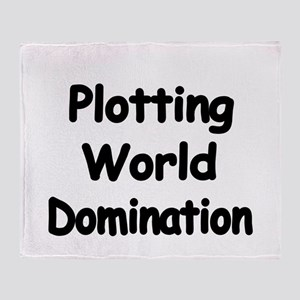Plotting World Domination Throw Blanket