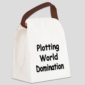 Plotting World Domination Canvas Lunch Bag