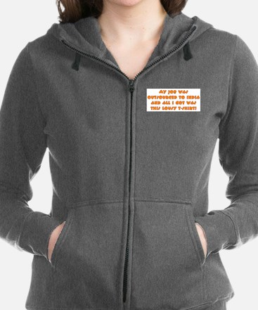 Outsourced Women's Zip Hoodie