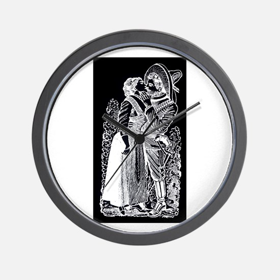 Romantic Kiss - Posada Woodcu Wall Clock