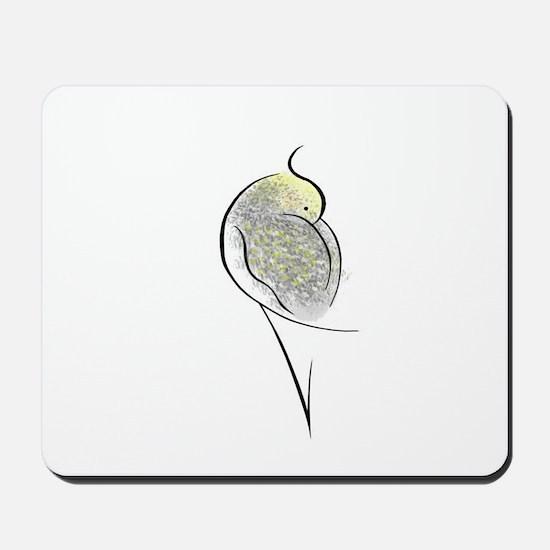 Pearl Cockatiel Mousepad