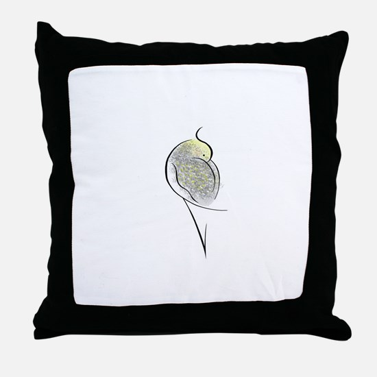 Pearl Cockatiel Throw Pillow