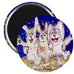 "Cute Cartoon Rabbit Moon 2.25"" Magnet (10 pack)"