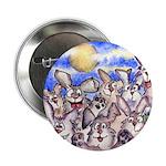 "Cute Cartoon Rabbit Moon 2.25"" Button (10 pack)"