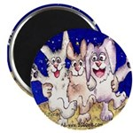 Cute Cartoon Rabbit Moon Magnet
