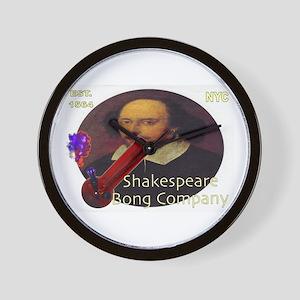 Shakespeare Bong Company Wall Clock