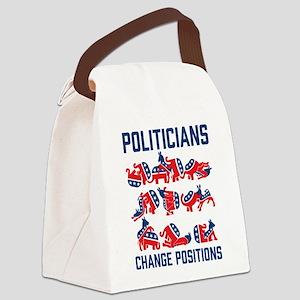 Politicians Change Positions Canvas Lunch Bag
