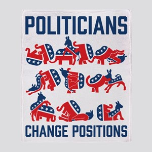 Politicians Change Positions Throw Blanket