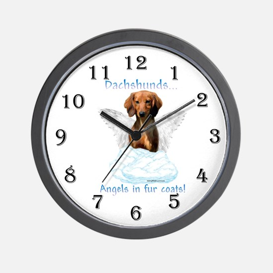 Dachshund Angel Wall Clock