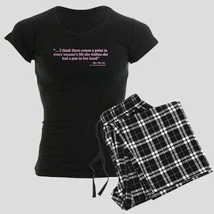 A Woman and Her Gun Pajamas