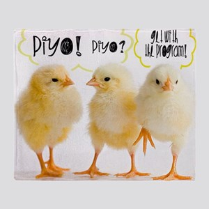 PIYO-piyo Throw Blanket