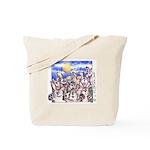 Cute Cartoon Rabbit Moon Tote Bag
