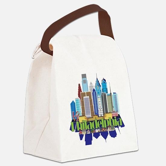 Iconic Philadelphia Canvas Lunch Bag