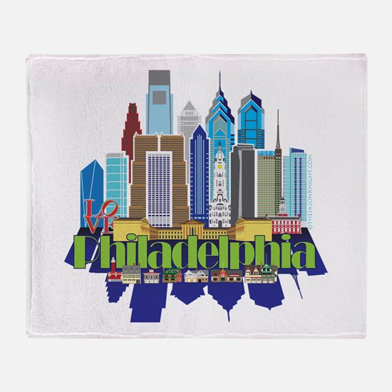 Iconic Philadelphia Throw Blanket