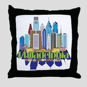 Iconic Philadelphia Throw Pillow