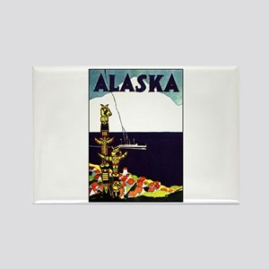 Vintage Alaska Travel Ad Rectangle Magnet
