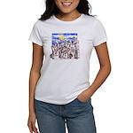 Cute Cartoon Rabbit Moon Women's T-Shirt