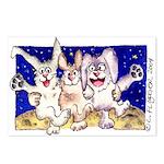 Cute Cartoon Rabbit Moon Postcards (Package of 8)