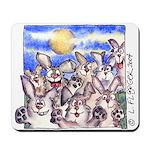 Cute Cartoon Rabbit Moon Mousepad