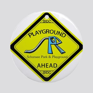 schonsee park and playground sign Ornament (Round)