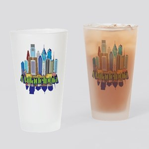 Iconic Philadelphia Drinking Glass