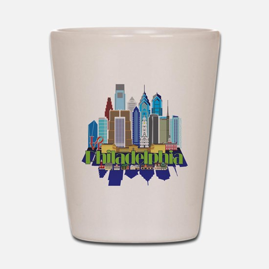 Iconic Philadelphia Shot Glass