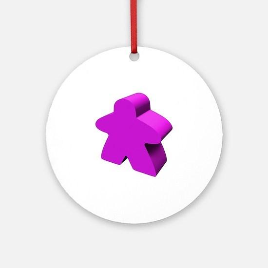 Purple Meeple Ornament (Round)