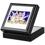 Cute Cartoon Rabbit Moon Keepsake Box
