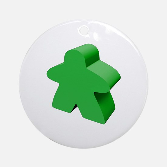 Green Meeple Ornament (Round)