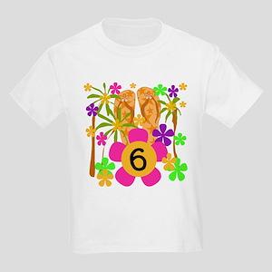 Luau 6th Birthday Kids T-Shirt