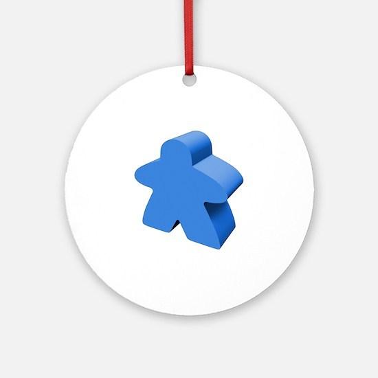 Blue Meeple Ornament (Round)
