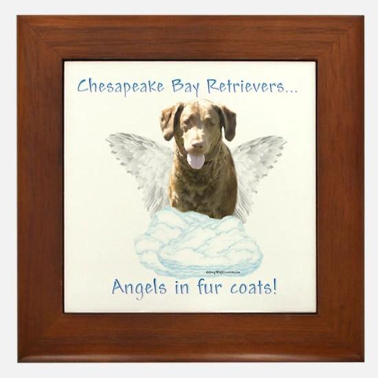 Chessie Angel Framed Tile