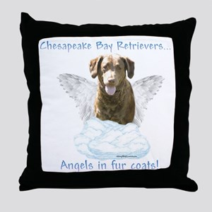 Chessie Angel Throw Pillow