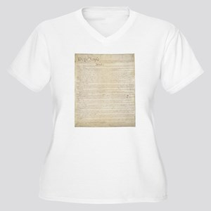 The Us Constitution Women's Plus Size V-Neck T-Shi
